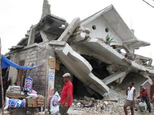 Rubble in Port-au-Prince