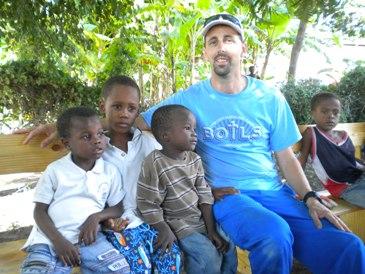 Rev. Matt Henson with the children of Haiti
