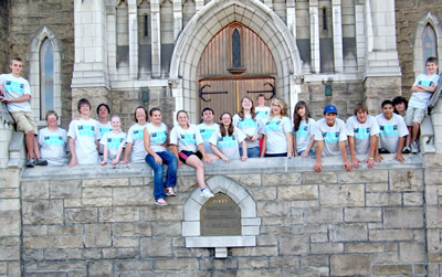 Mattoon First UMC mission team that engaged in mission work in Steubenville, Ohio