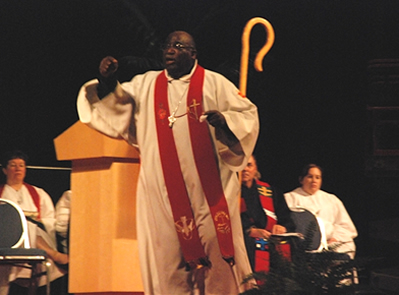 Bishop Gregory V. Palmer preaching the Service of Ordination, 2010 Annual Conference