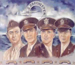 The Four Chaplains of USAT Dorchester - 1943