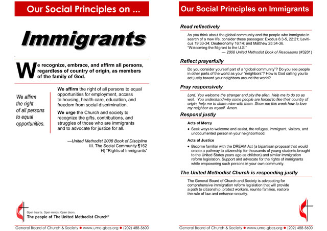 Social Principles bulletin insert