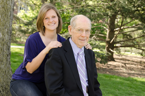 Sadie Delashmit, McKendree Class of 2014 and grandfather Rev. Dr. Donald Lowe, 1948