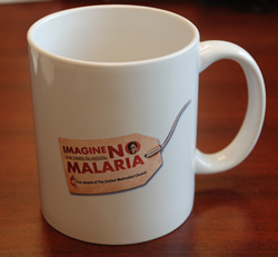Imagine No Malaria mug