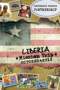 October 2012 Mission Trip to Liberia brochure cover