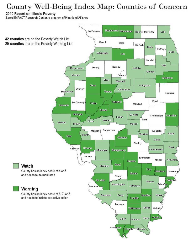 2010 Illinois Poverty Map