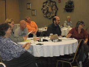Participants at a Financial Success Seminar sponsored by PASBF