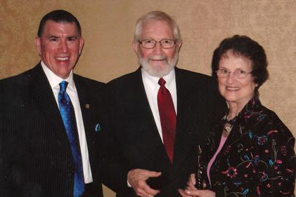 Methodist Medical Center President and CEO Michael Bryant, Bill Zander, Nancy Zander