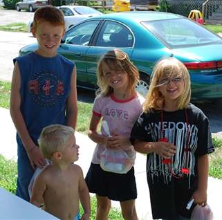 Children fed by the TWIGS feeding ministry in Granite City