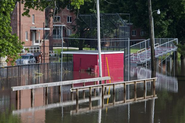 MacMurray's Softball Field under water June 18